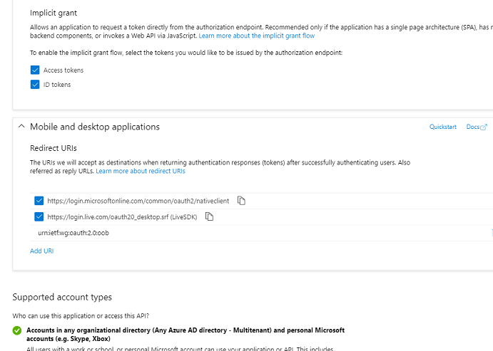 azure application Authentication Overview