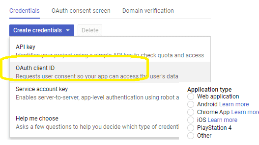 google oauth client id